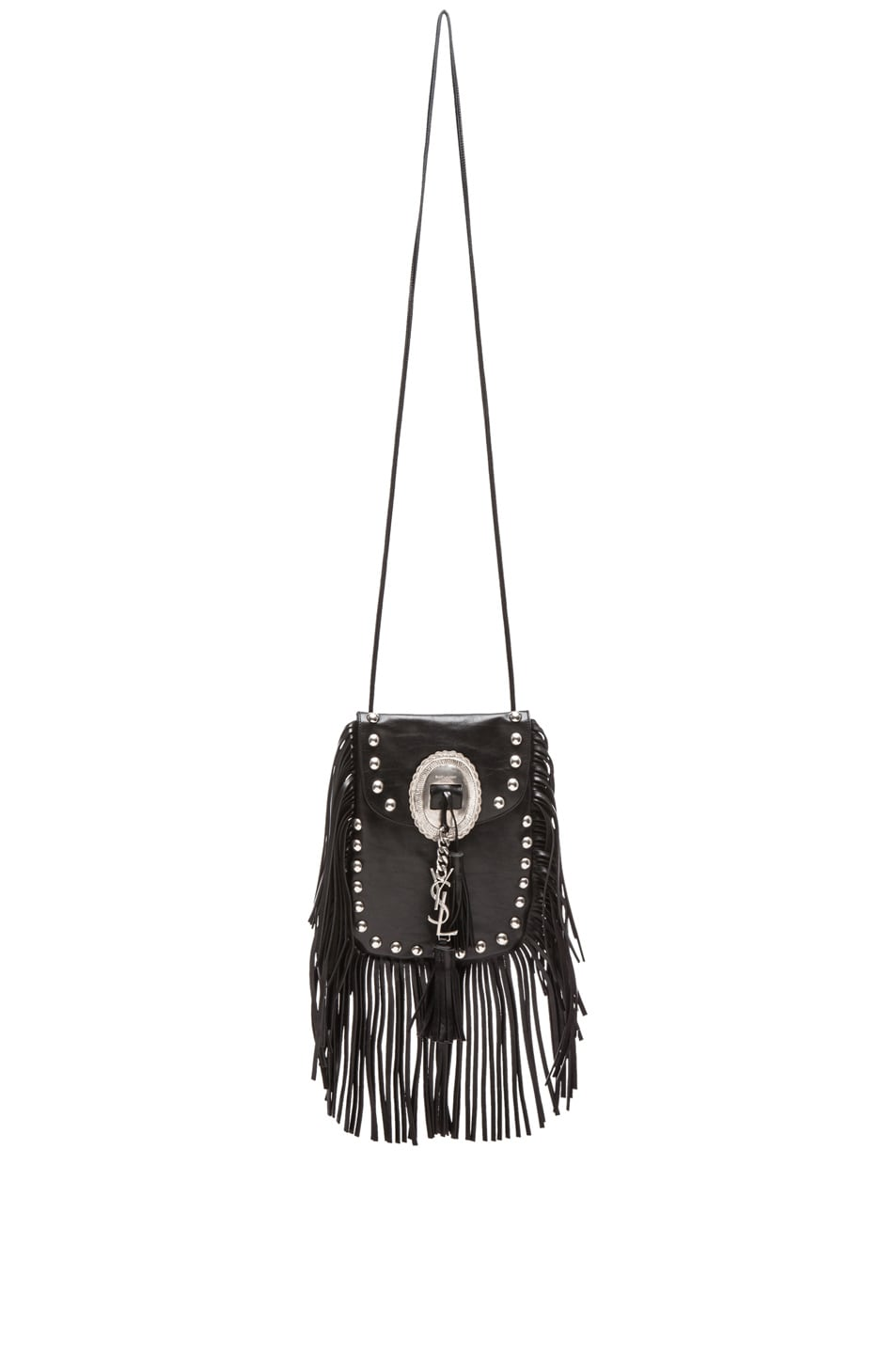 Image 1 of Saint Laurent Anita Bag with Tassel and Studs in Black