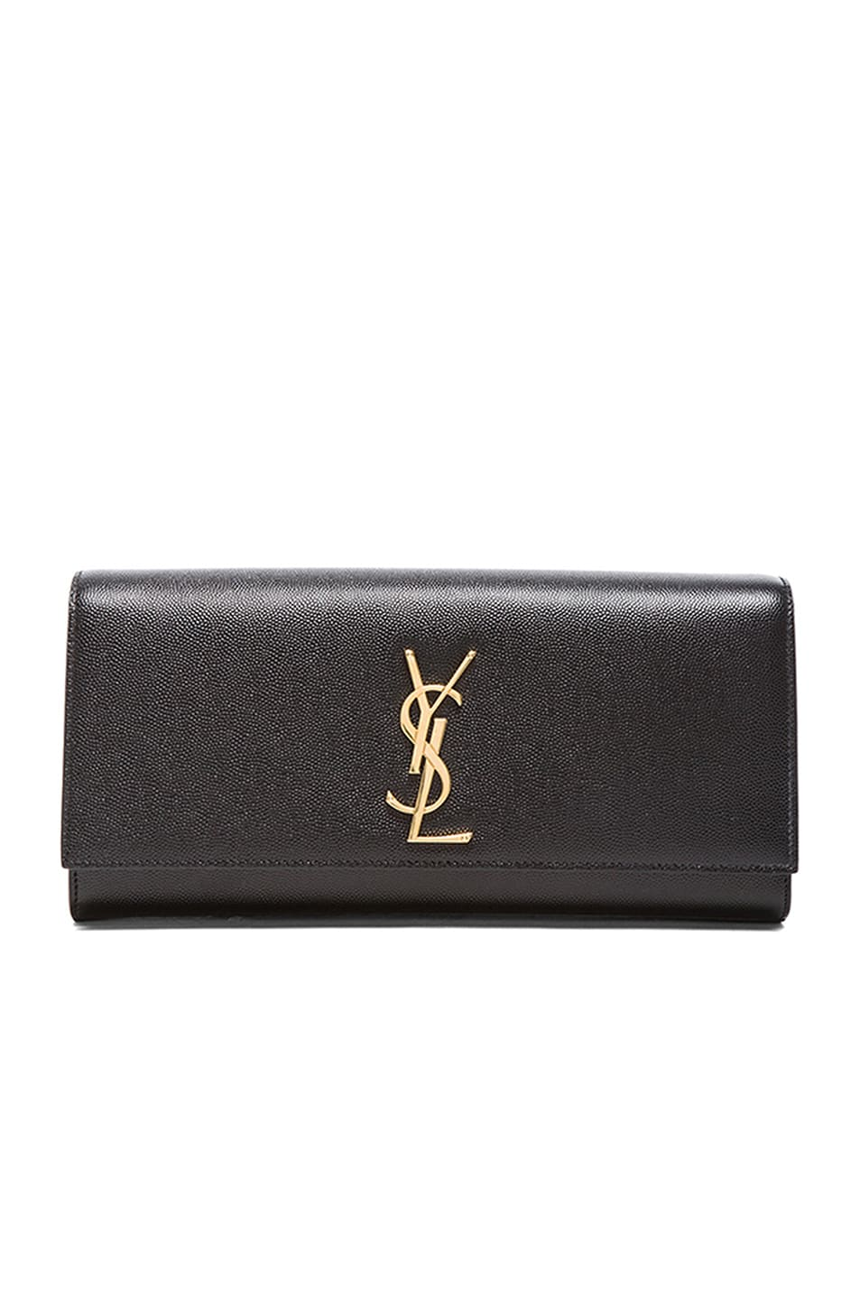 Image 1 of Saint Laurent Monogram Clutch in Black