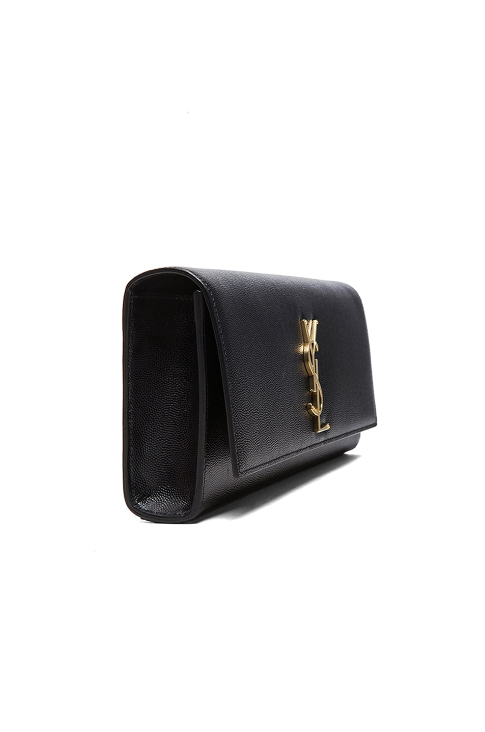 Image 3 of Saint Laurent Monogram Clutch in Black