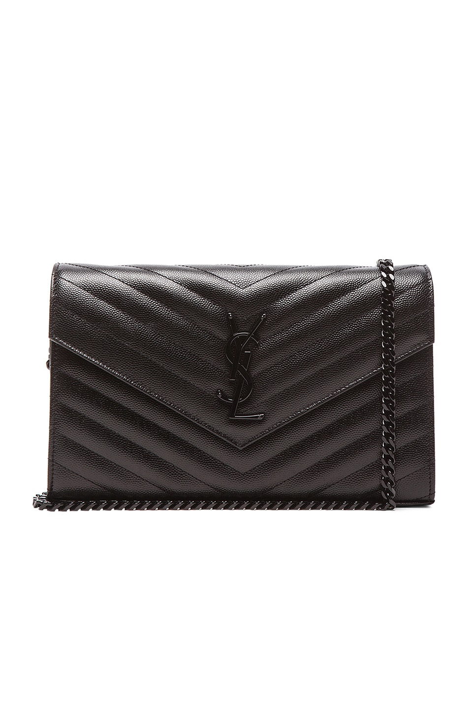 Saint Laurent Quilted chain wallet zTq6u2Jd