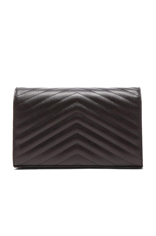 Image 3 of Saint Laurent Monogramme Chain Wallet in Black & Black
