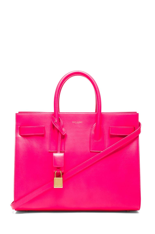 Saint Laurent Saint Laurent Pink Leather Small Sac Du Jour Handbag F07EL