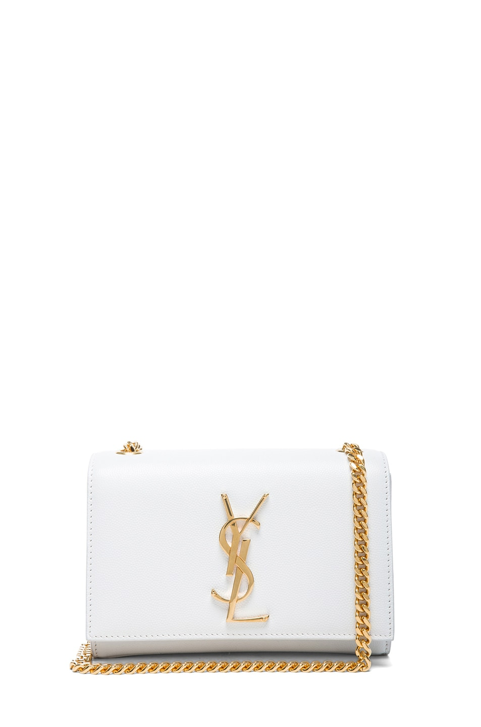 Image 1 Of Saint Lau Small Monogramme Chain Bag In Optic White