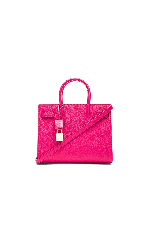 Image 1 of Saint Laurent Baby Sac De Jour Carryall Bag in Lipstick Fuchsia