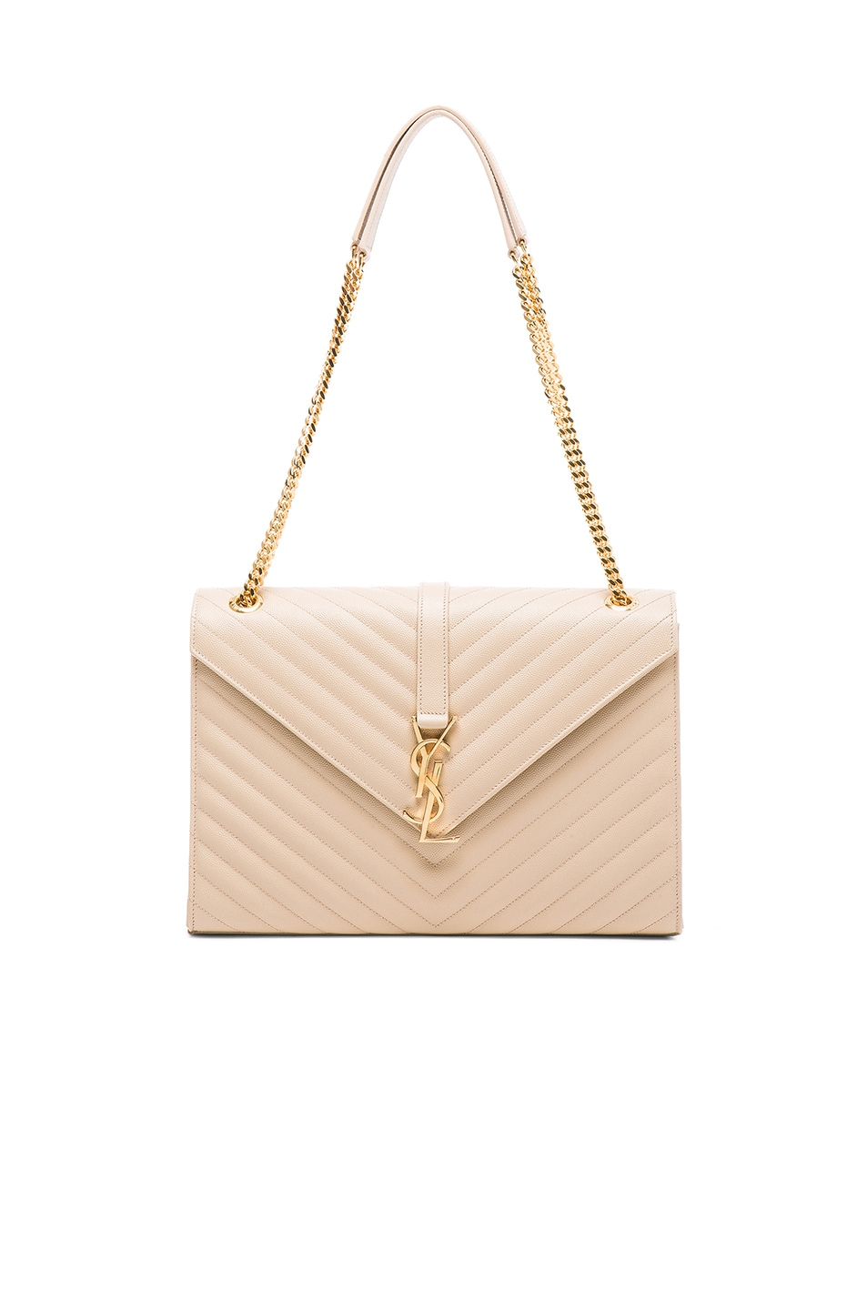 Image 1 of Saint Laurent Large Monogram Envelope Chain Bag in Poudre