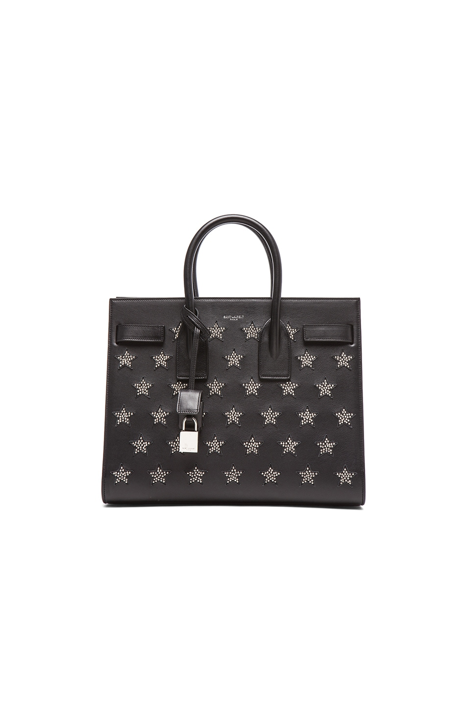 Image 1 of Saint Laurent Small Stars Sac De Jour Carryall Bag in Black