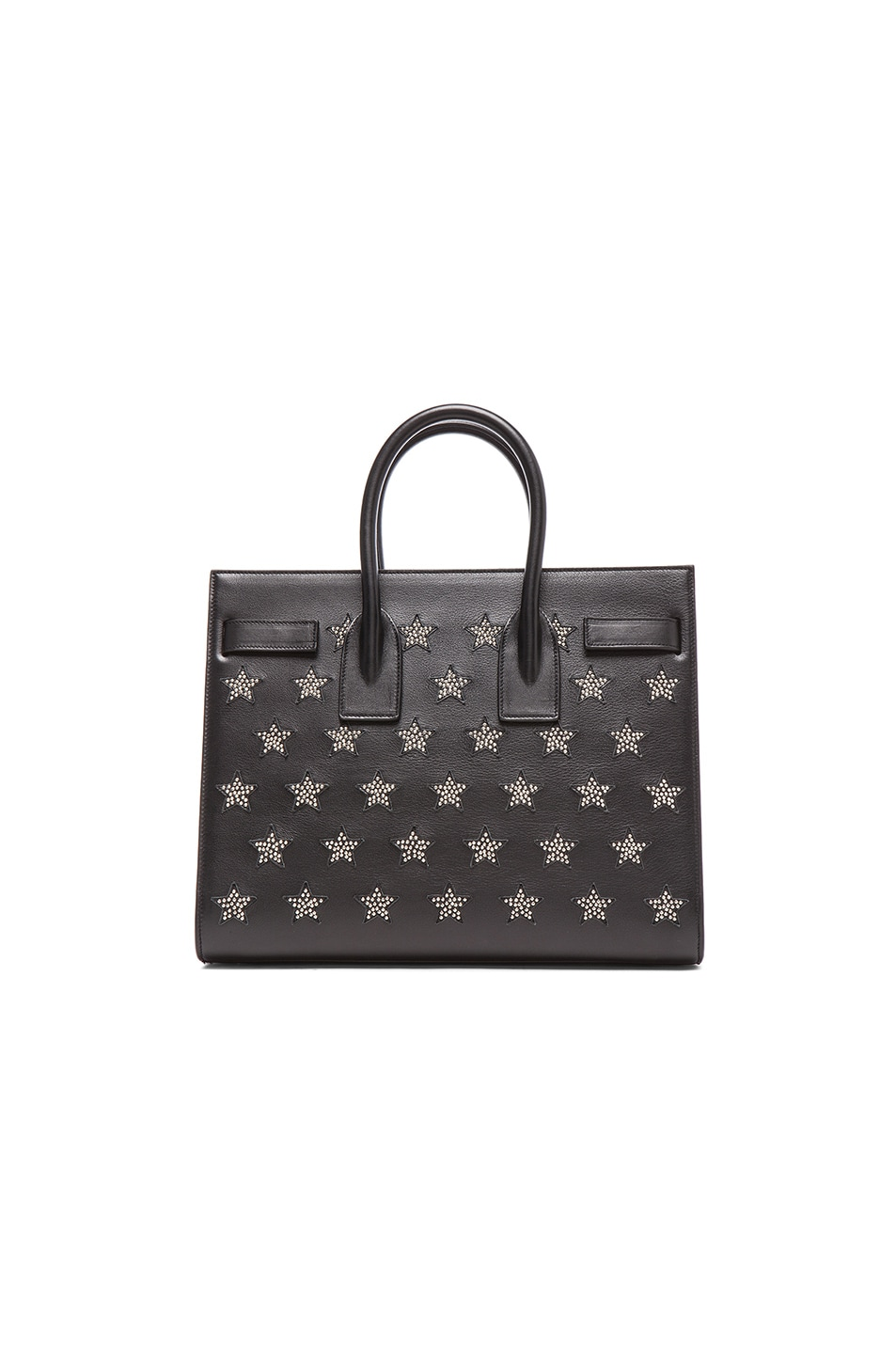 Image 3 of Saint Laurent Small Stars Sac De Jour Carryall Bag in Black