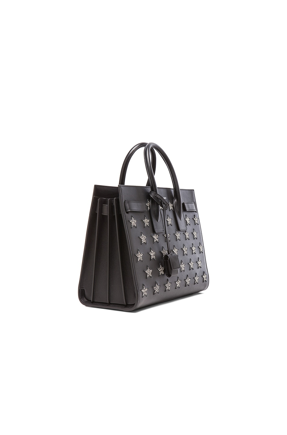 Image 4 of Saint Laurent Small Stars Sac De Jour Carryall Bag in Black