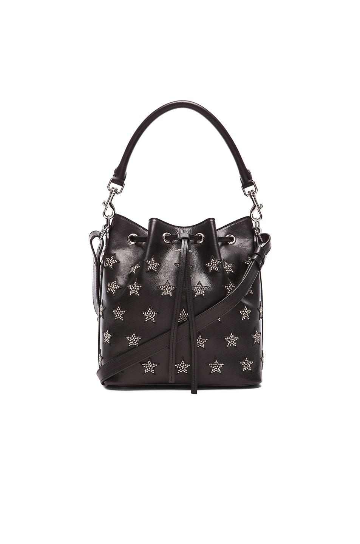 Image 1 of Saint Laurent Medium Star Studs Emmanuelle Bucket Bag in Black