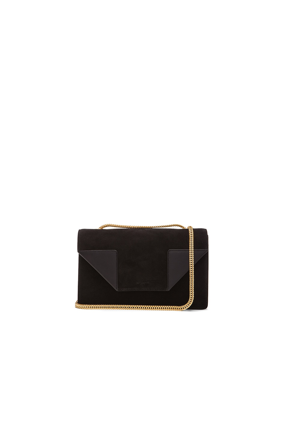 Image 1 of Saint Laurent Small Suede Betty Chain Bag in Black 50b27e0288574