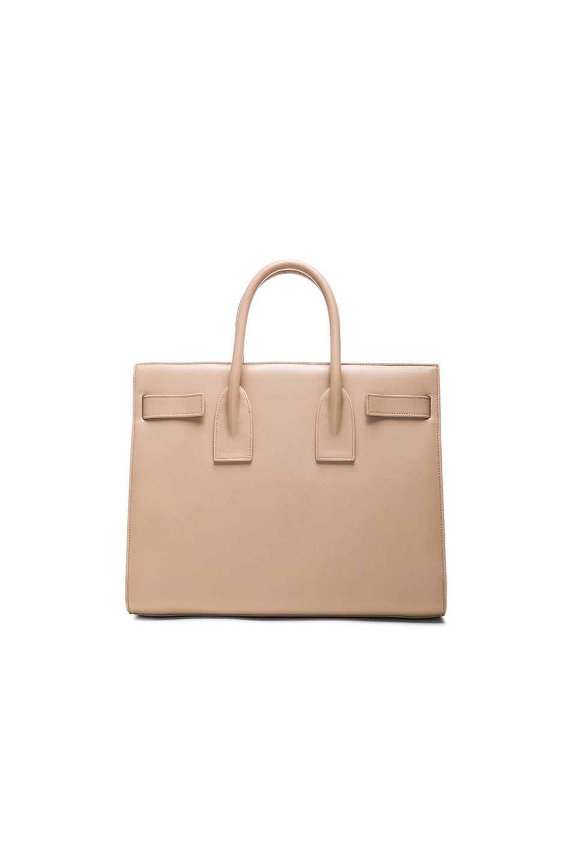 Image 3 of Saint Laurent Small Sac De Jour Carryall Bag in Dark Beige