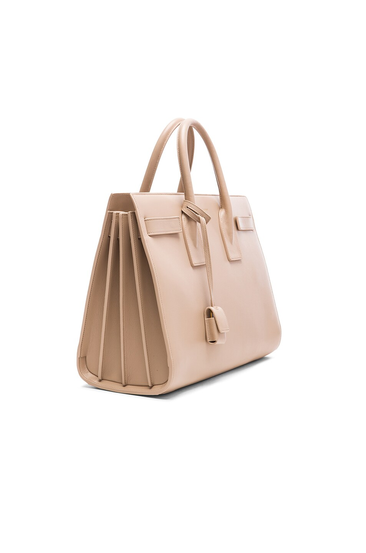 Image 4 of Saint Laurent Small Sac De Jour Carryall Bag in Dark Beige
