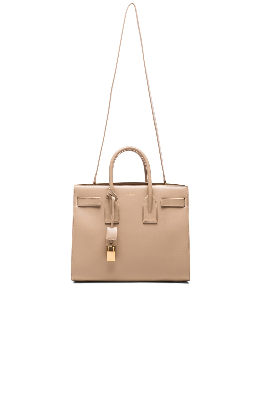 Image 6 of Saint Laurent Small Sac De Jour Carryall Bag in Dark Beige