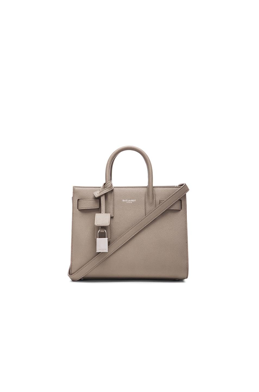 Image 1 of Saint Laurent Nano Sac De Jour Carryall Bag Graine in Light Grey