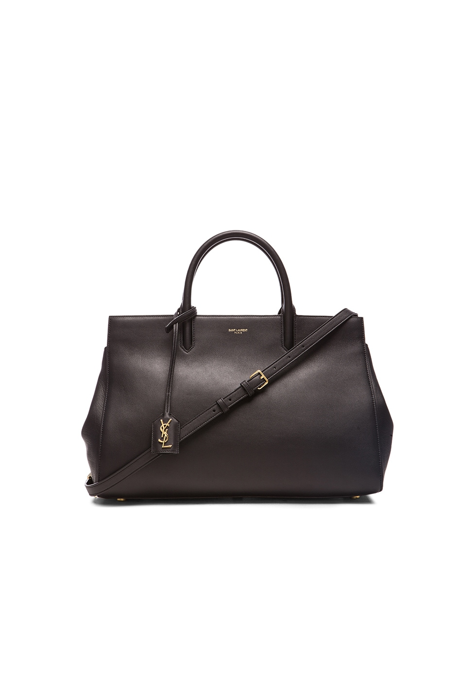 Image 1 of Saint Laurent Medium Monogramme Cabas Bag in Black