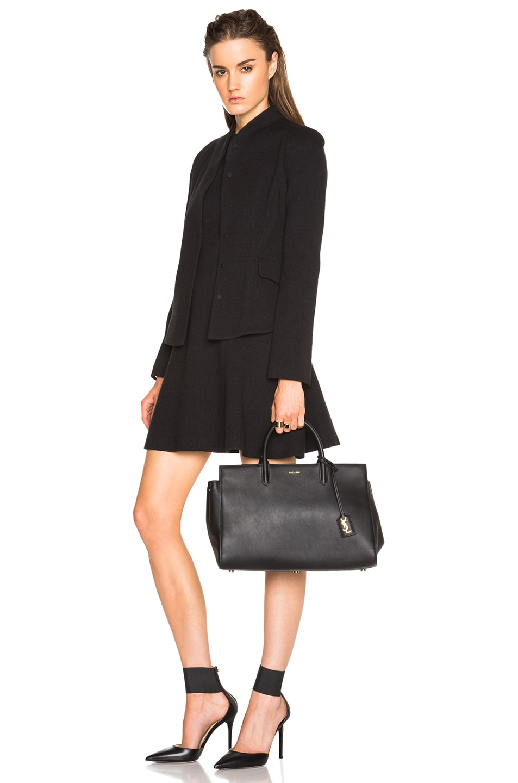 Image 2 of Saint Laurent Medium Monogramme Cabas Bag in Black