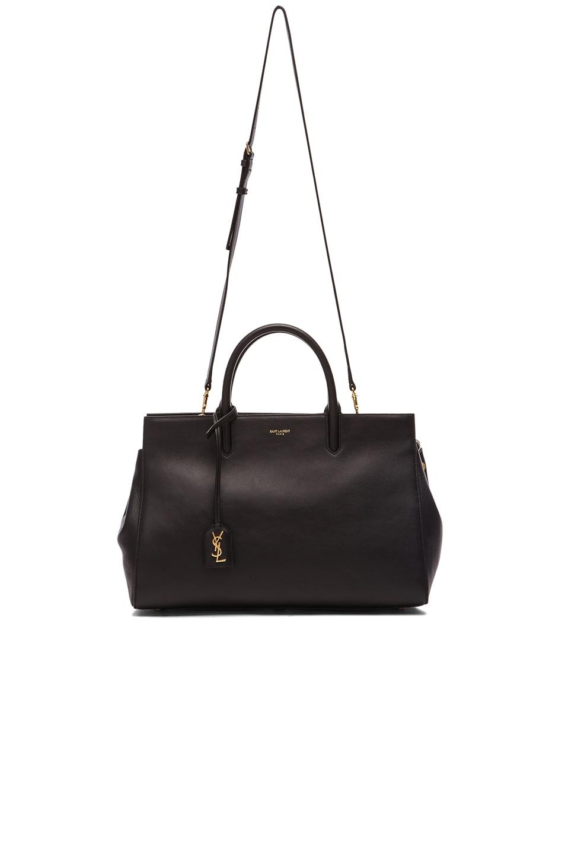 Image 6 of Saint Laurent Medium Monogramme Cabas Bag in Black