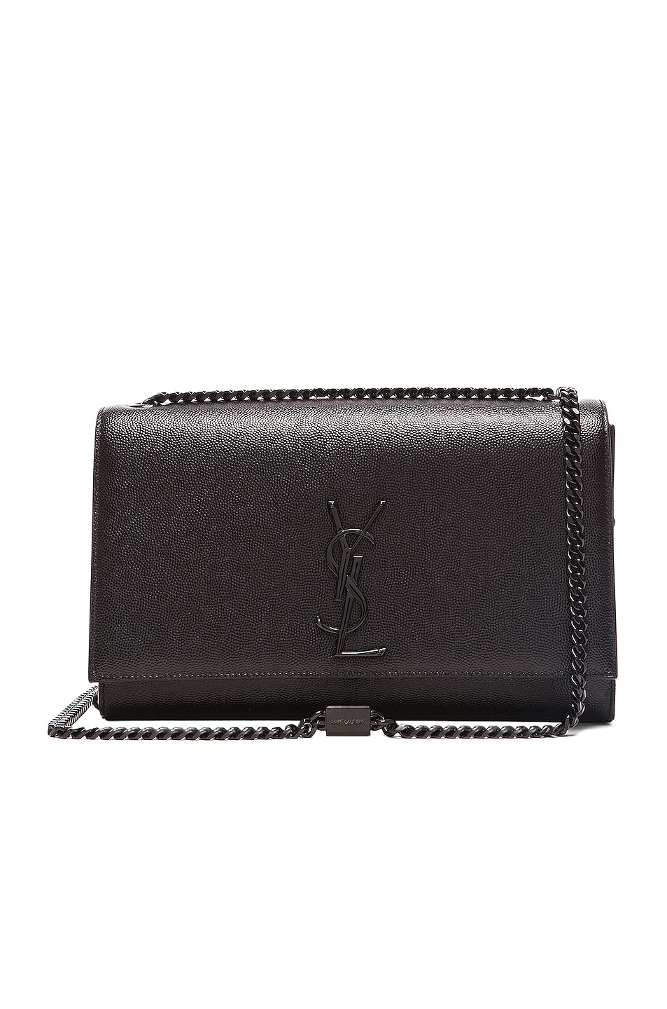 Image 1 of Saint Laurent Medium Monogramme Chain Bag & Black in Black