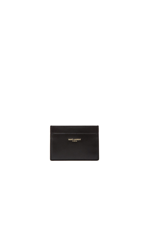 Image 1 of Saint Laurent Credit Card Case in Black