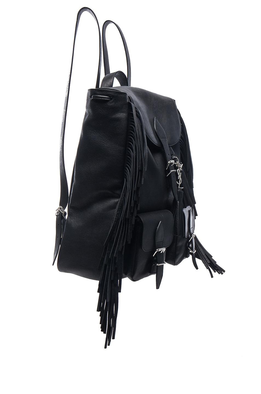 ed9aed5d Saint Laurent Fringe Festival Backpack in Black | FWRD