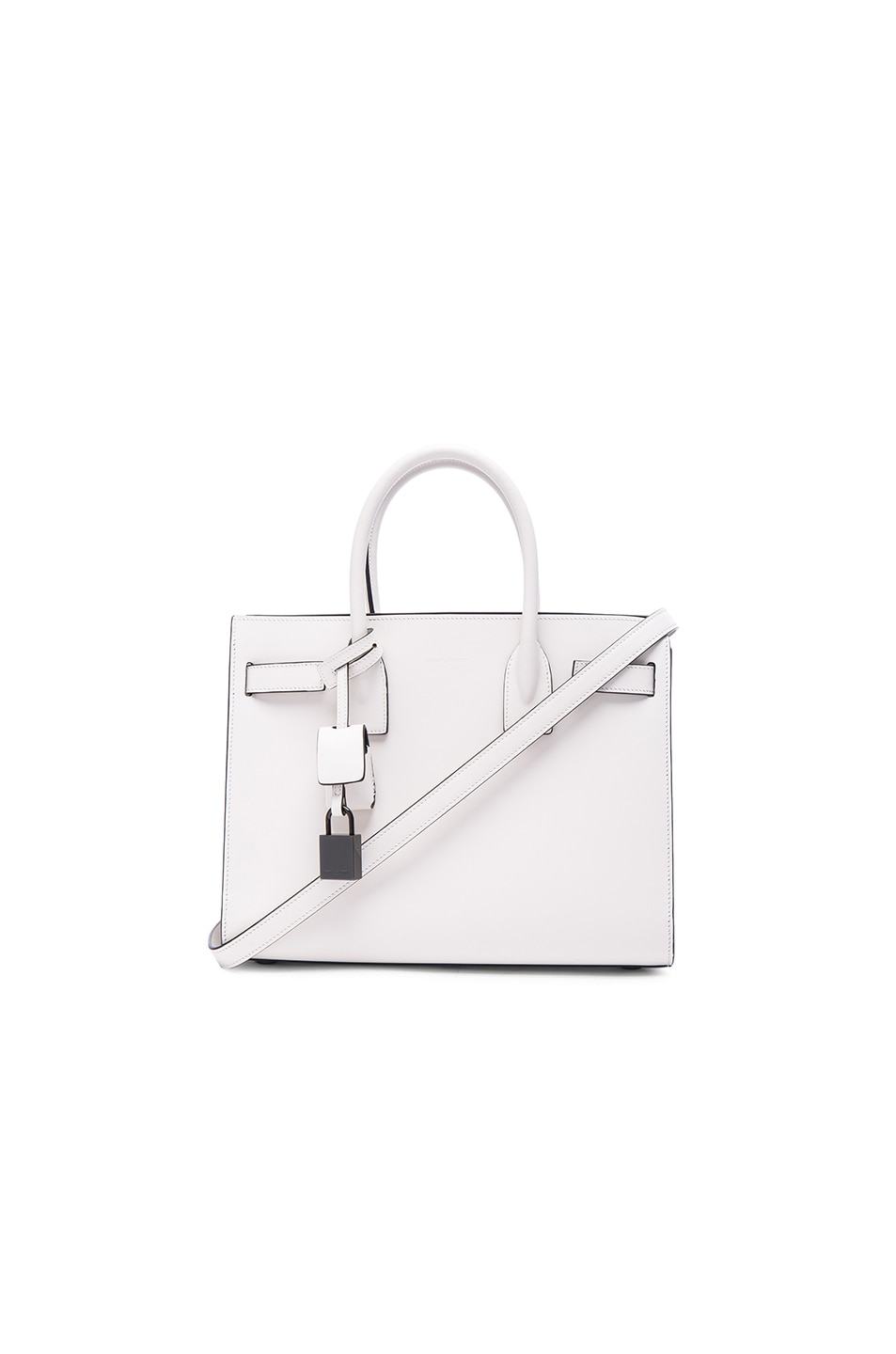 Image 1 of Saint Laurent Baby Double Face Sac De Jour in Porcelain & Black