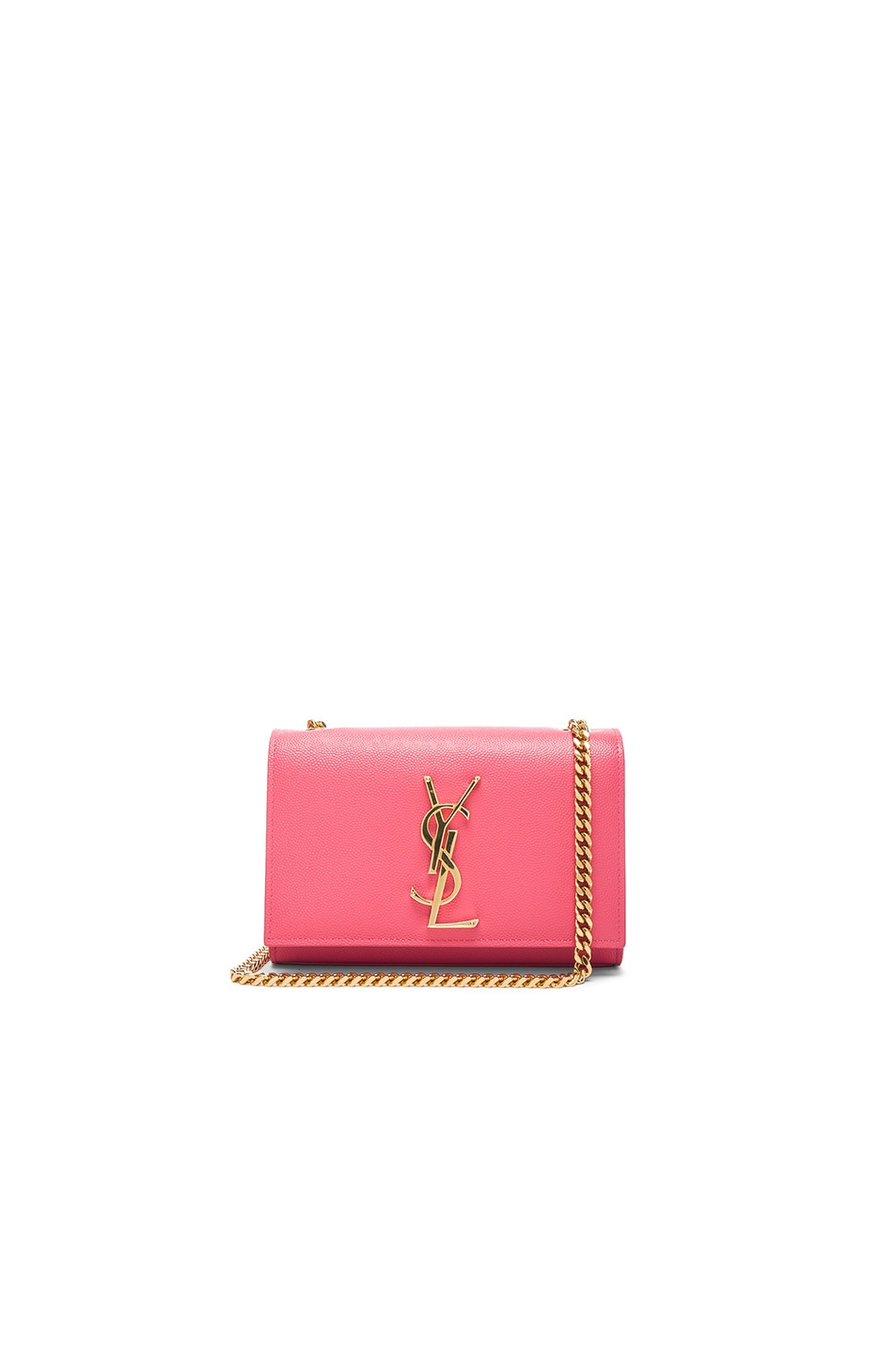 Image 1 of Saint Laurent Small Monogramme Chain Bag in Rose Clair