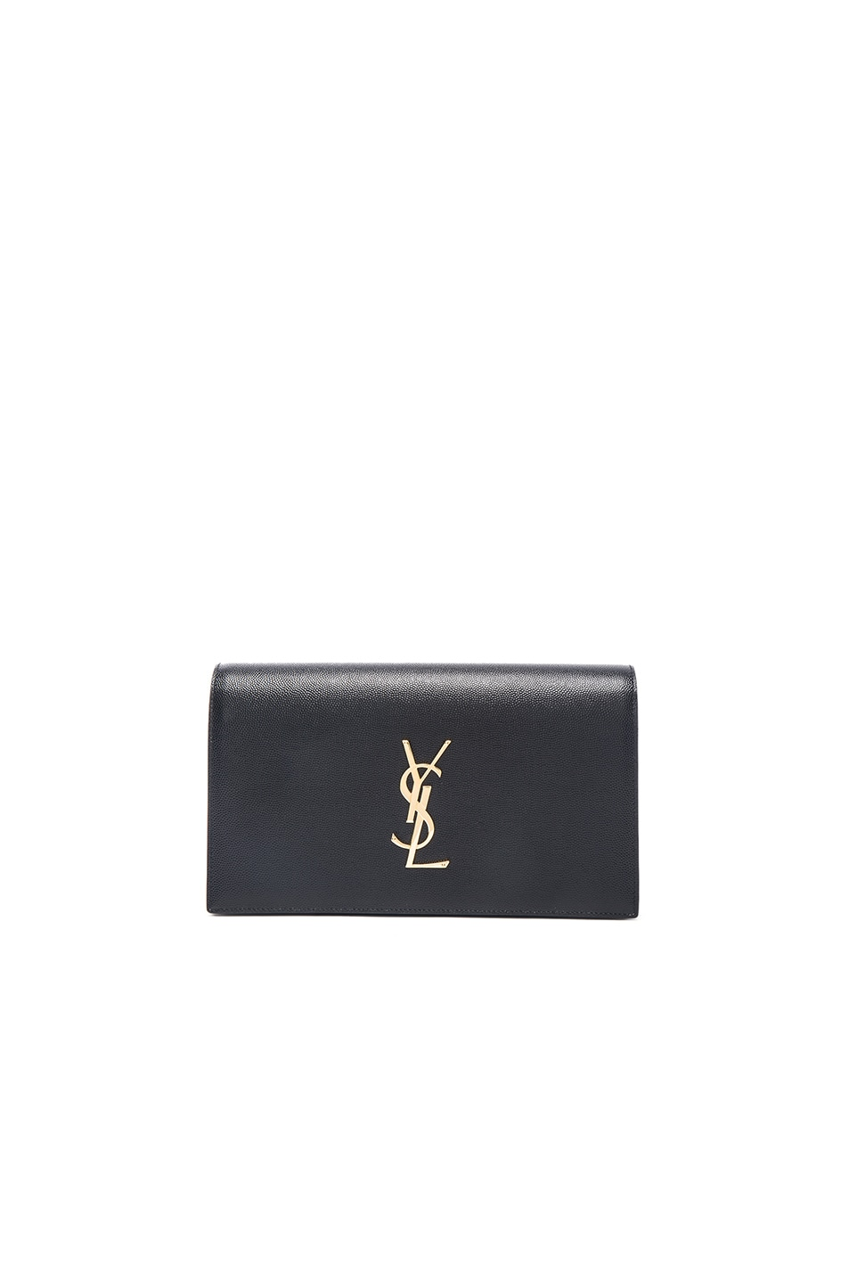 Image 1 of Saint Laurent Monogramme Clutch in Black
