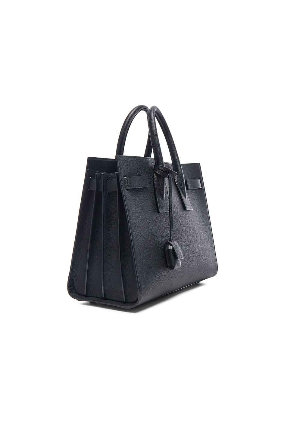 6c3cdf2091e Image 4 of Saint Laurent Small Black Hardware Sac De Jour in Black