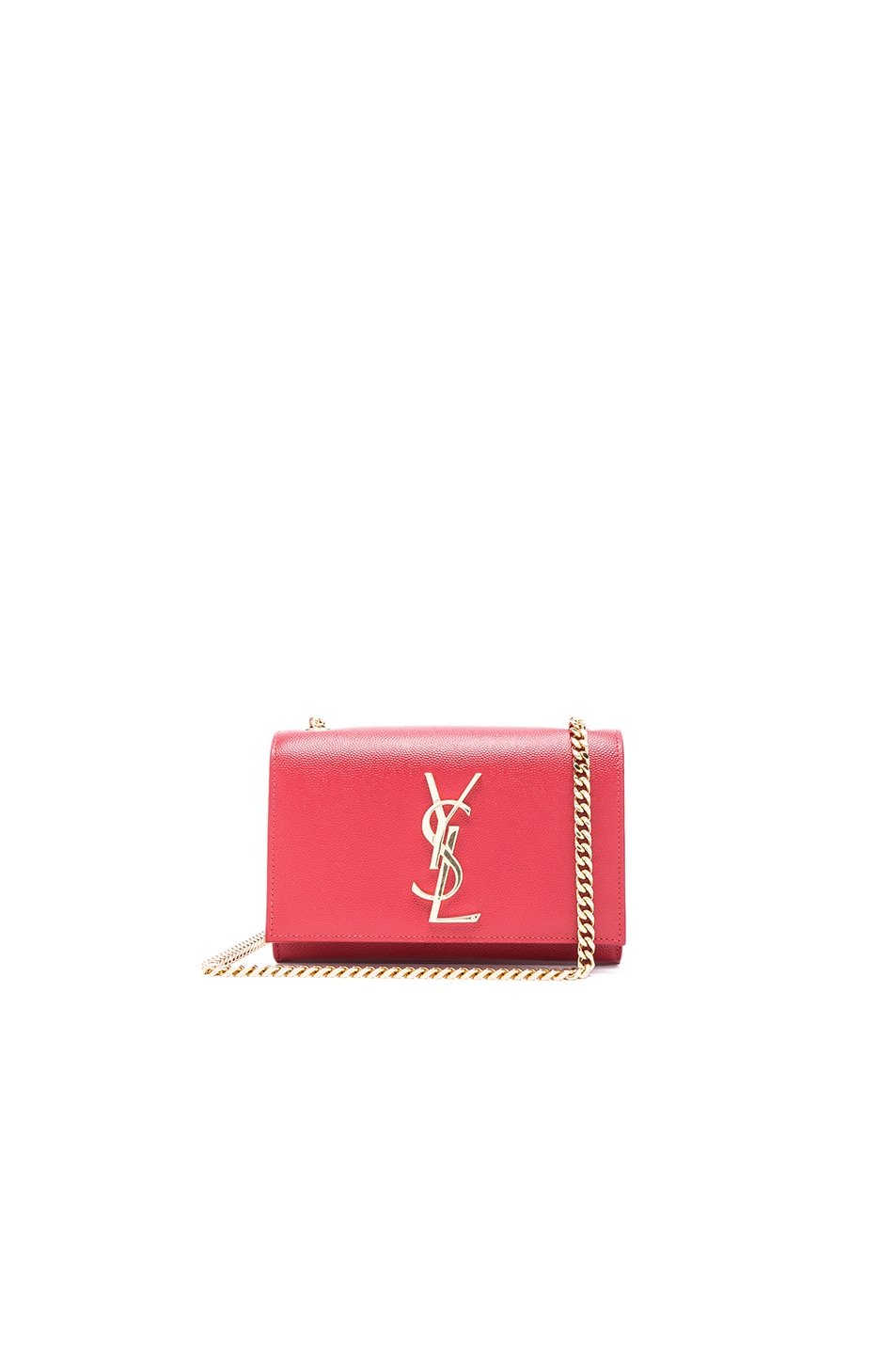 Image 1 of Saint Laurent Small Leather Monogramme Kate Chain Bag in Red