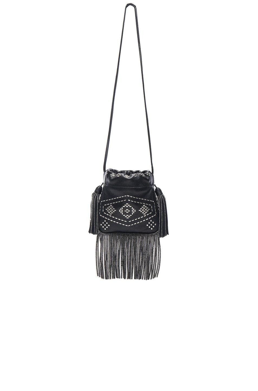 3eb52866f11 Image 3 of Saint Laurent Helena Inca Stud & Fringe Bag in Black