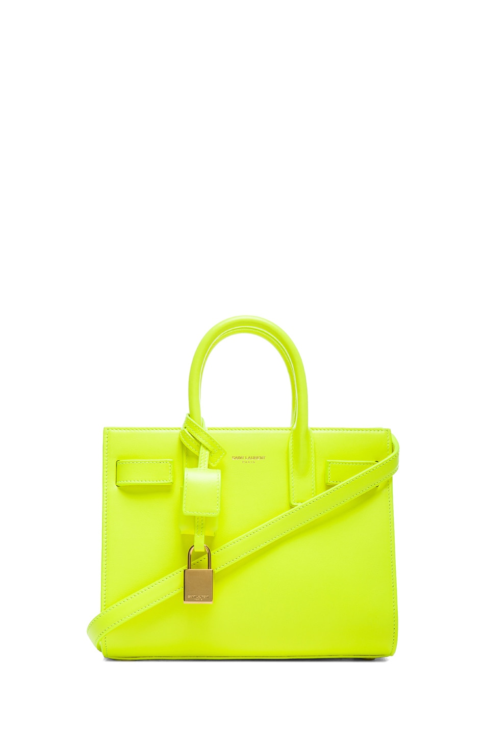 Image 1 of Saint Laurent Baby Sac De Jour Carryall Bag in Neon Yellow