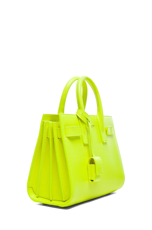 Image 3 of Saint Laurent Baby Sac De Jour Carryall Bag in Neon Yellow