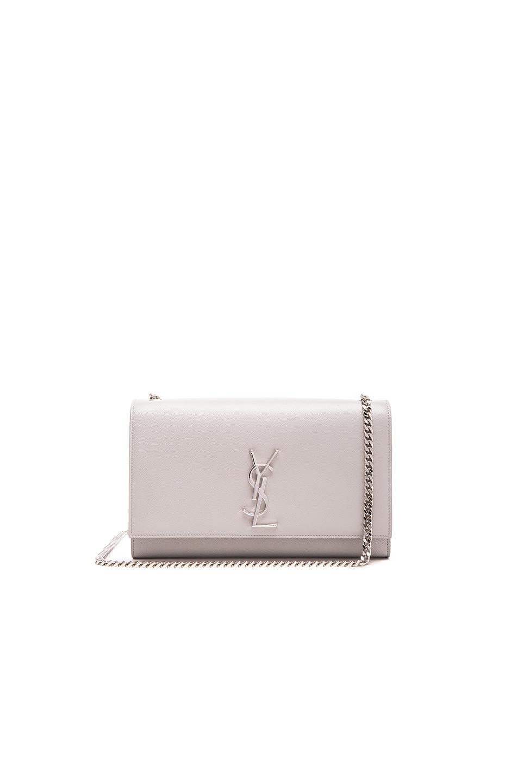 95852fb8da Saint Laurent Medium Monogram Chain Bag in Mouse Grey | FWRD