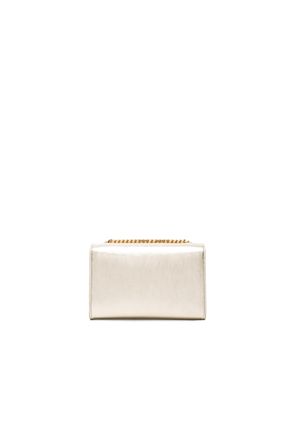 Image 3 of Saint Laurent Small Monogramme Tassel Chain Bag in Pale Gold