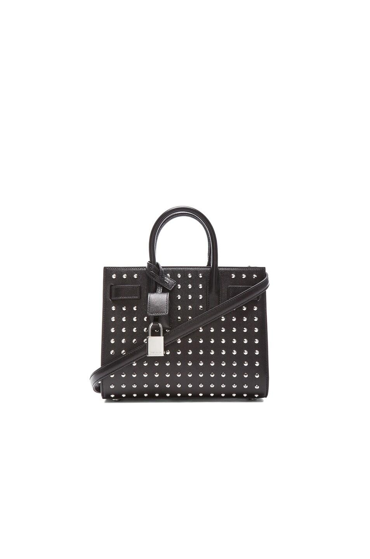 ab797d2d07 Image 1 of Saint Laurent Nano Sac Du Jour Studded Carryall Bag in Black
