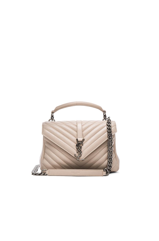 Image 1 of Saint Laurent Medium Monogramme College Bag in Powder Rose
