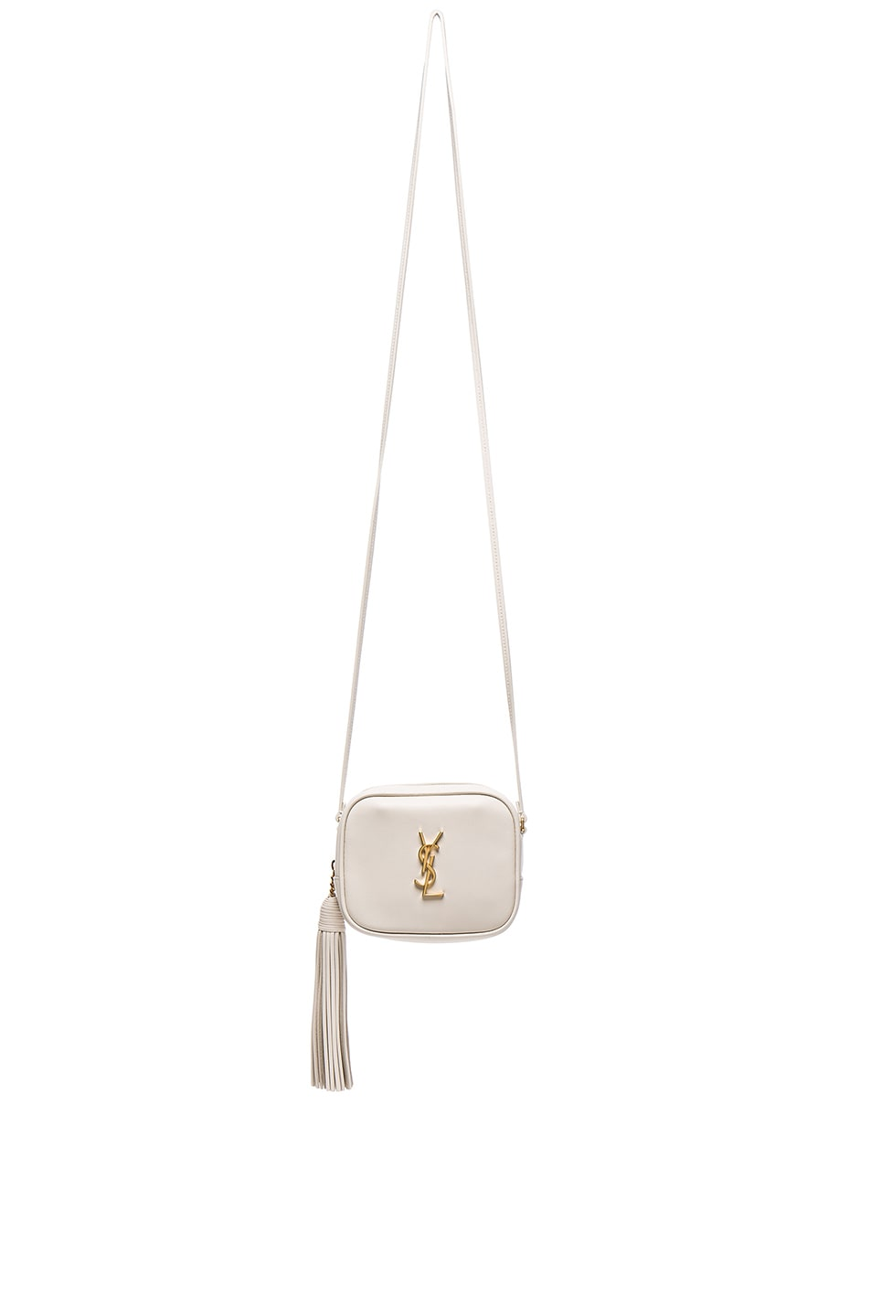 Image 1 of Saint Laurent Blogger Bag in Porcelain & Black