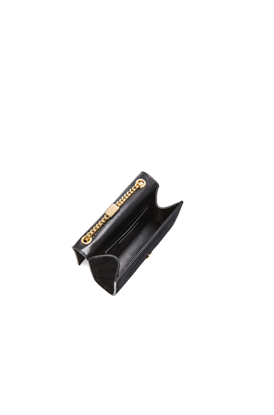Image 5 of Saint Laurent Small Monogramme Suede Chain Tassel Bag in Black Suede