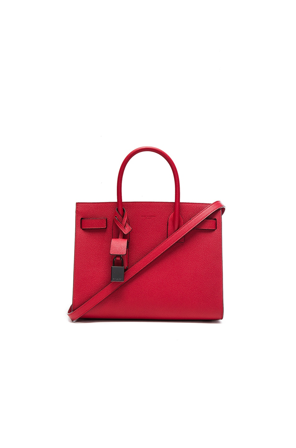 Image 1 of Saint Laurent Baby Sac de Jour Bonded Matte Trim in Red & Black