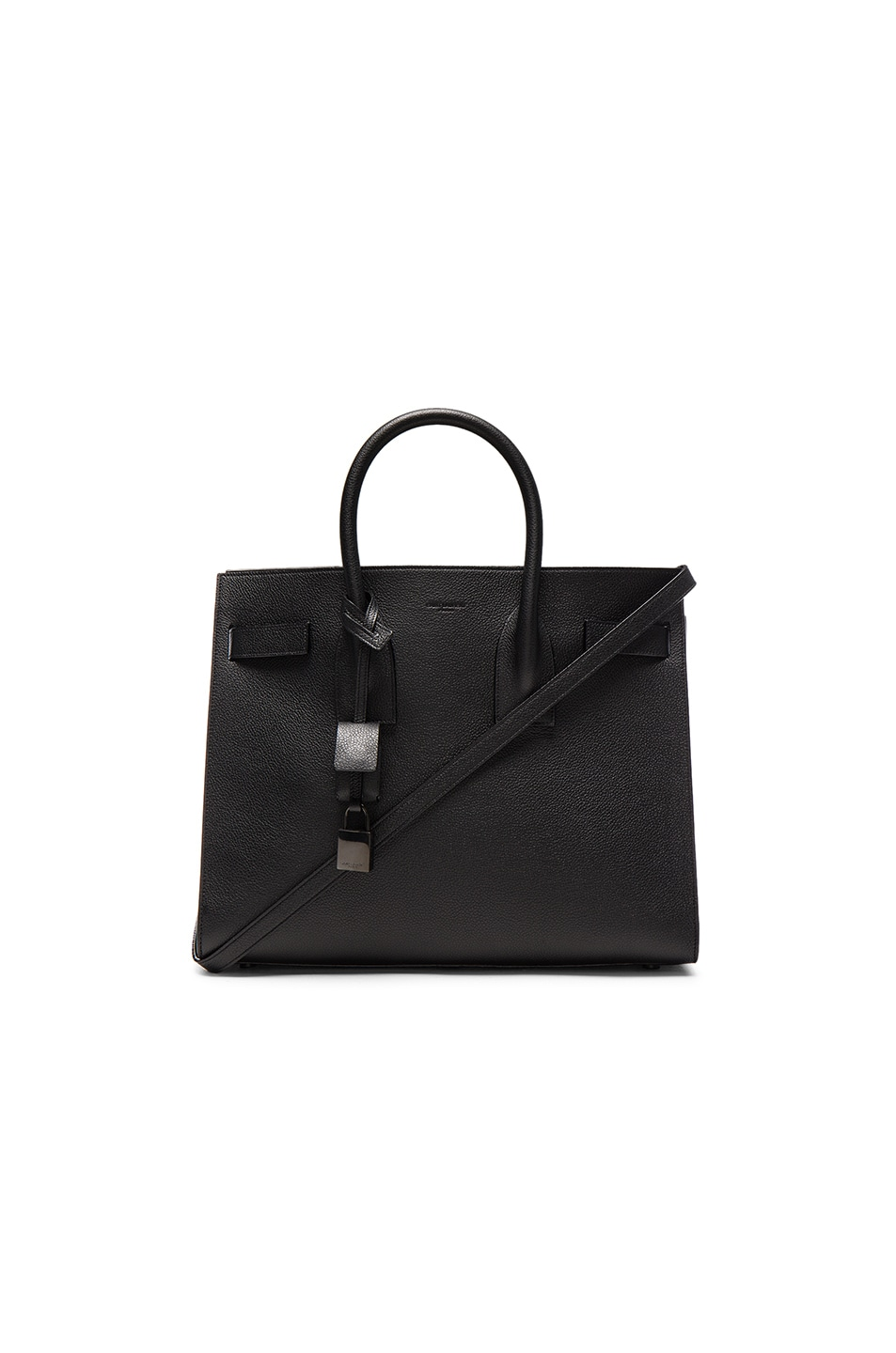 Image 1 of Saint Laurent Small Sac de Jour Bonded Shiny Trim in Black
