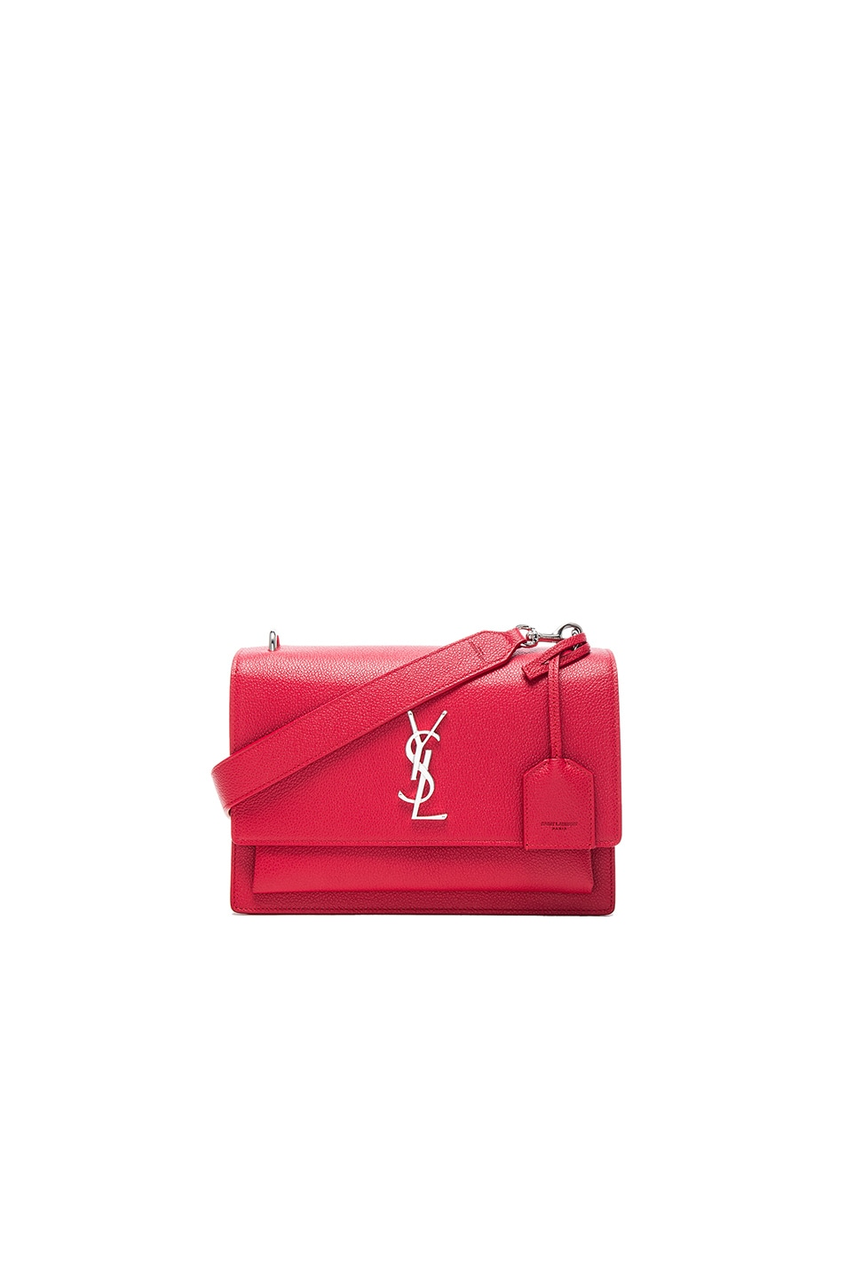 Image 1 of Saint Laurent Medium Monogramme Sunset Satchel in Red