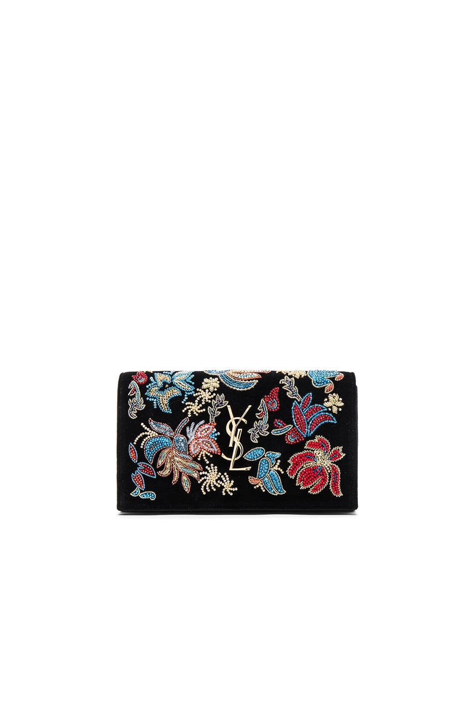 Image 1 of Saint Laurent Glam Rock Chain Wallet in Black Multi