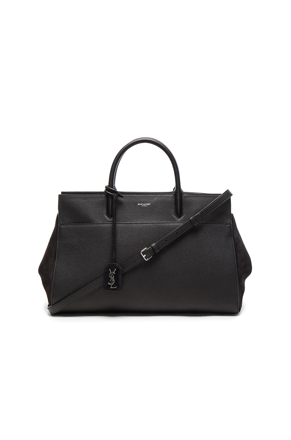 a115a64bf5 Image 1 of Saint Laurent Rive Gauche Medium Cabas in Black