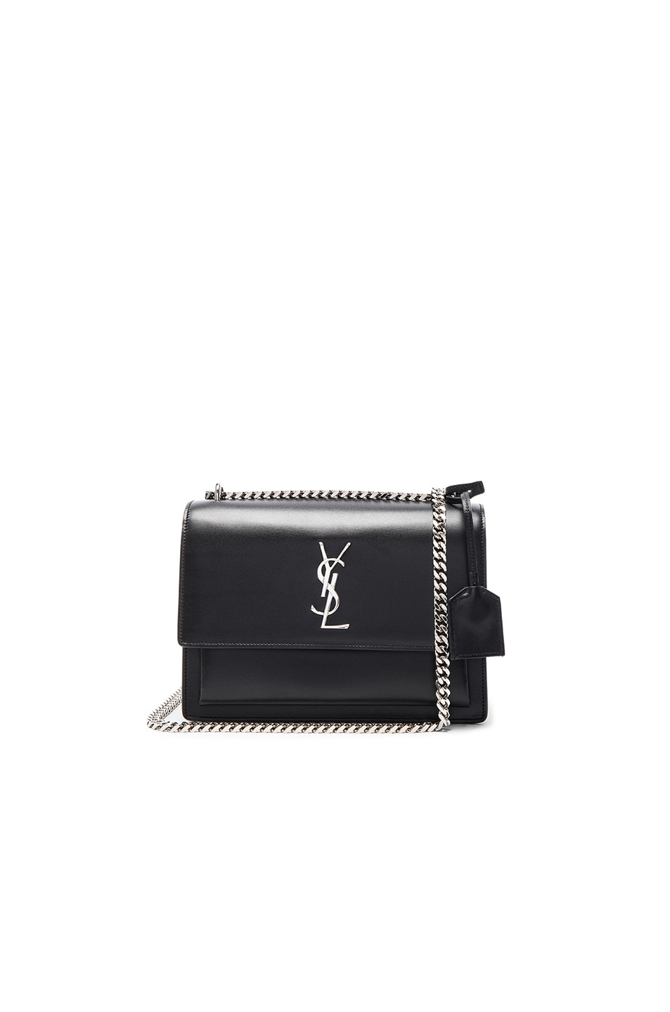 Image 1 of Saint Laurent Medium Monogramme Sunset Chain Bag in Black