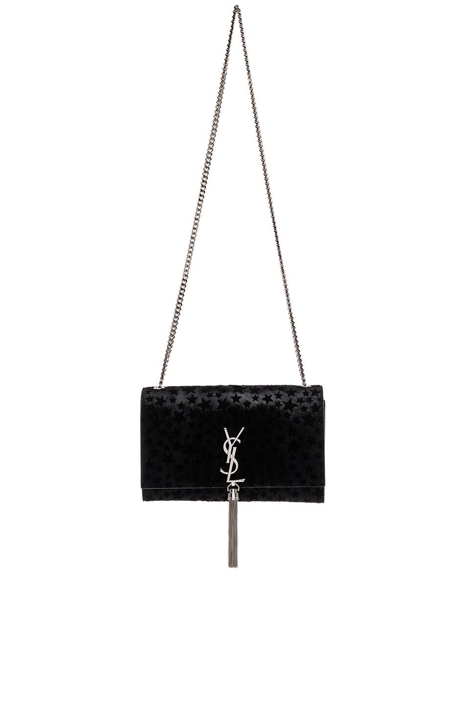 Image 1 of Saint Laurent Medium Monogram Pony Stars Kate Bag in Black
