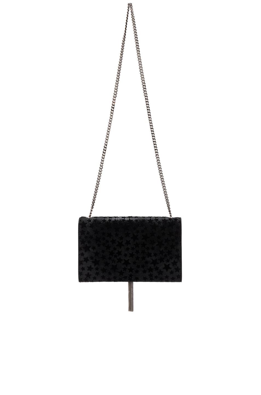 Image 2 of Saint Laurent Medium Monogram Pony Stars Kate Bag in Black