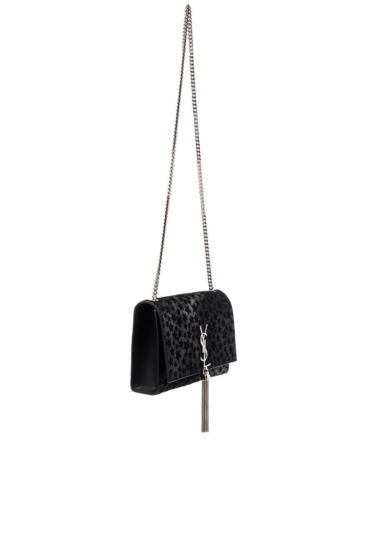 Image 3 of Saint Laurent Medium Monogram Pony Stars Kate Bag in Black