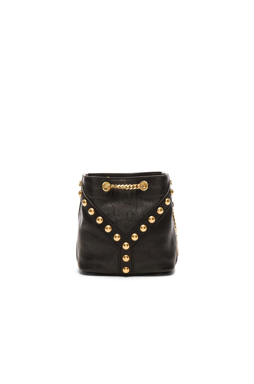 286336b18d65 Image 2 of Saint Laurent Y Studs Baby Bucket Chain Bag in Black