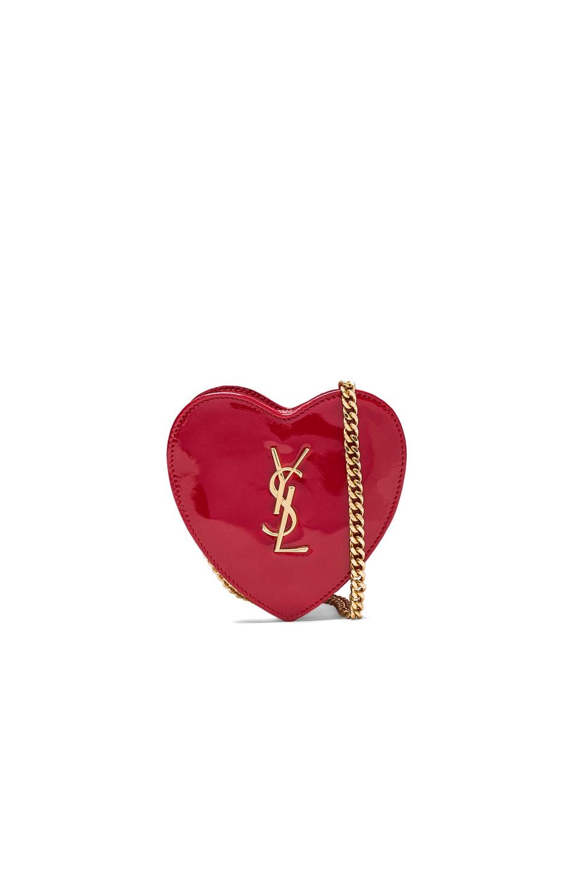 Image 1 of Saint Laurent Love Mini Crossbody Bag in Red