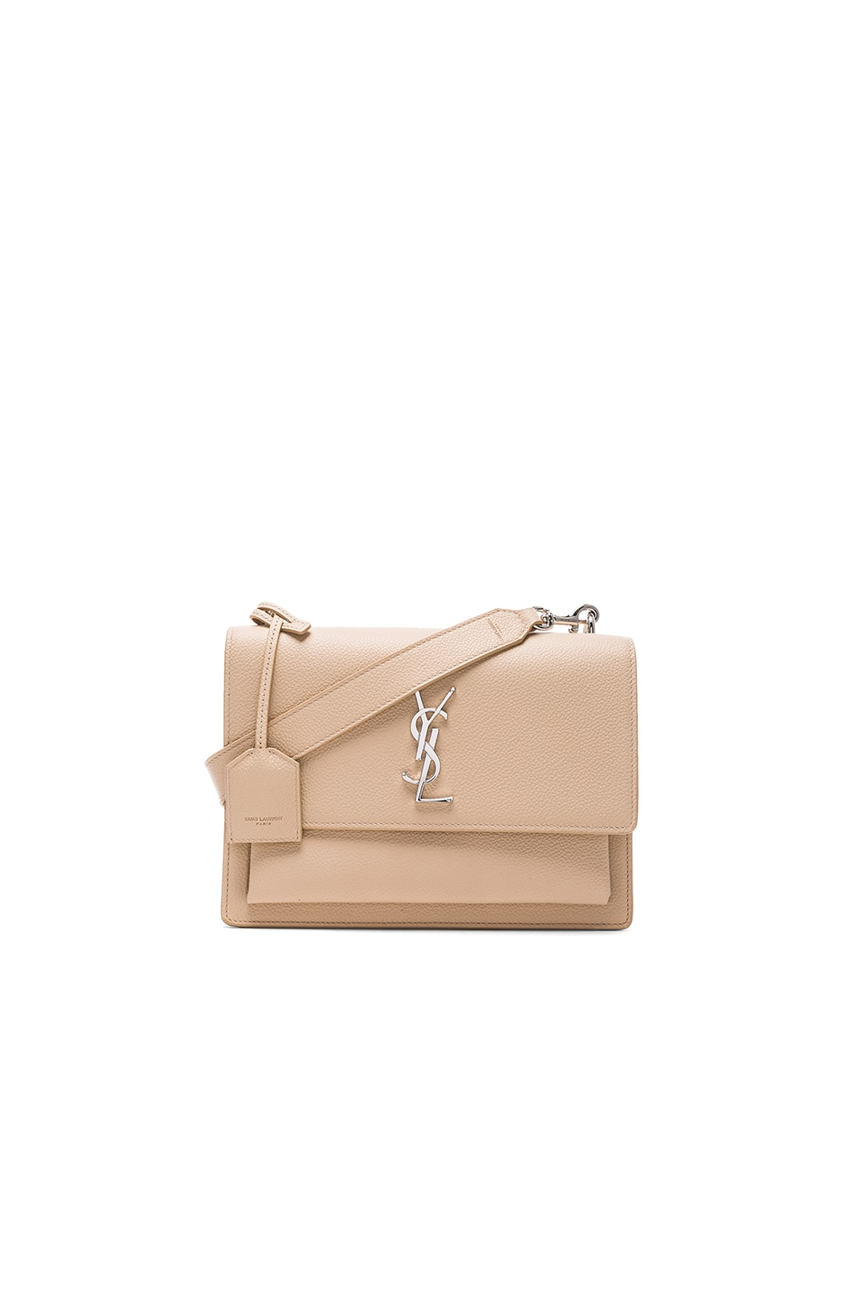 Image 1 of Saint Laurent Sunset Medium Monogramme Chain Bag in Poudre